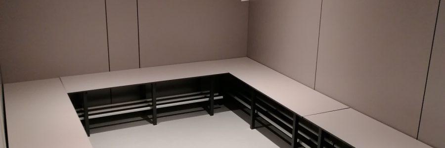 Inrichten kleedkamer